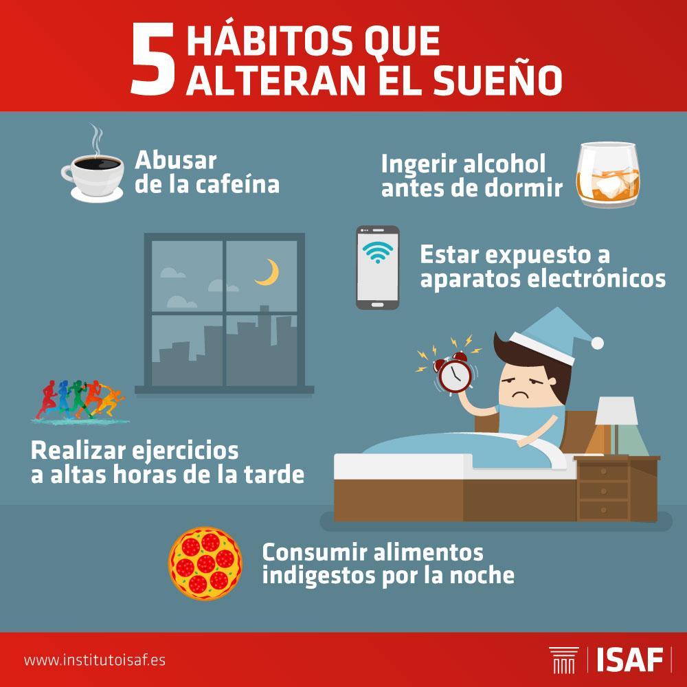 habitos que alteran el sueño - ISAF