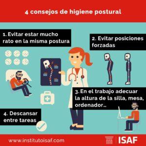 Consejos higiene postural - ISAF
