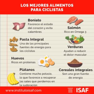 los mejores alimentos para ciclistas interna - isaf