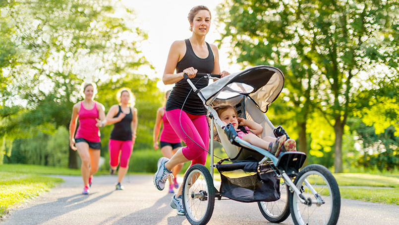 correr con carrito bebe - isaf