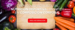Técnico Especialista en Nutrición Deportiva + Monitor en Composición Corporal
