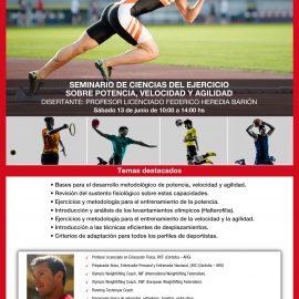 Seminario de ciencias del ejercicio sobre potencia, velocidad y agilidad